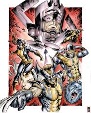 Wolverine, Jean Grey, Beast, Sentry, Magneto & Ciclope