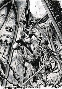 Batman vs Azrael & background ink def2.j