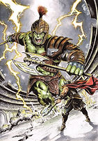 Hulk VS Thor pencil ink color low res.jp