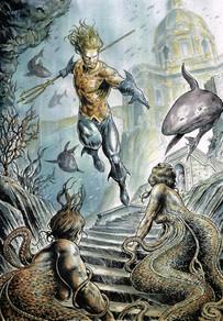 Aquaman vs Scilla & Cariddi