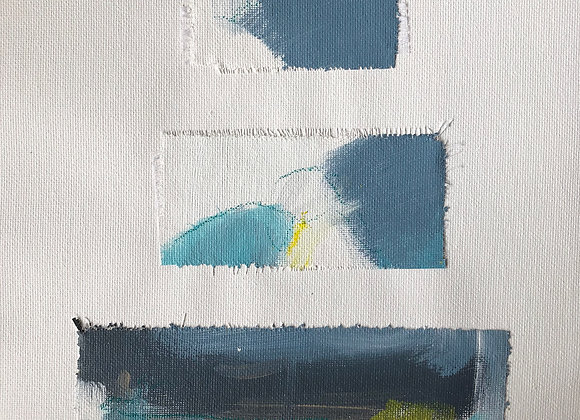 Frayed Canvas Collection - Blue Grays