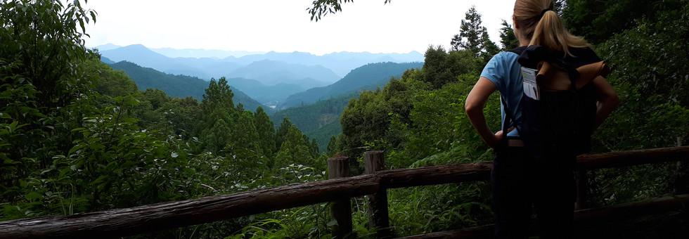 Jen hiking in Japan
