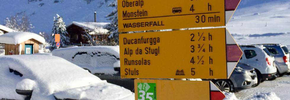 List of hikes in Sertig