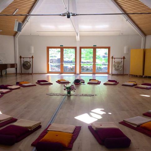 Yoga Room at Schweibenalp