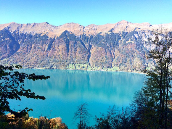 Turquoise waters of Brienz
