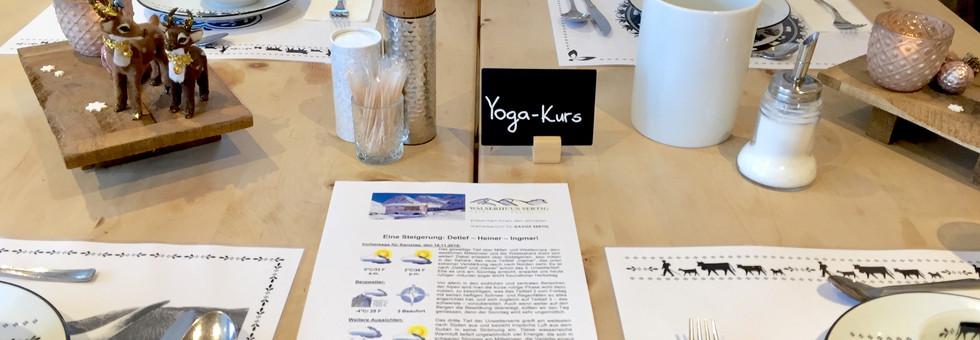 Yoga Retreat Dining
