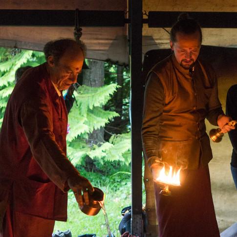 fire ceremony with Sundar