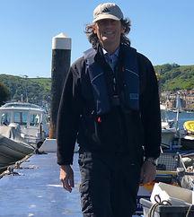 Dart Sailablity volunteer on pontoon