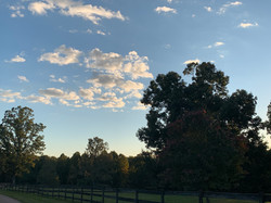 A pleasant late summer evening