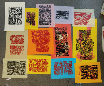 One day of printing, lots of experimentation