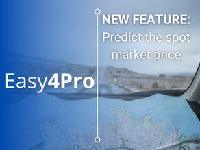Easy4Pro's New Feature: Predict the spot market price