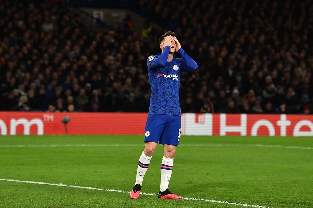 Mason Mount na partida entre Chelsea e Bayern na terça-feira 25/02/2020