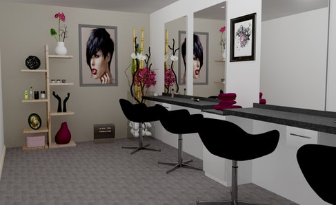 Perspective salon coiffure