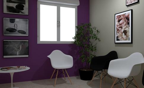 Perspective 3D espace attente