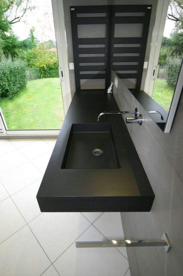 Plan toilette en béton