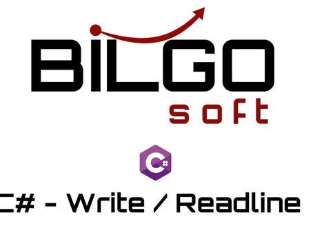 C# - Write / ReadLine