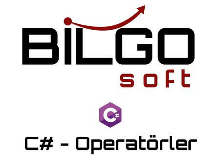 C# - Operatörler
