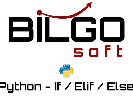 Python - If / Elif / Else