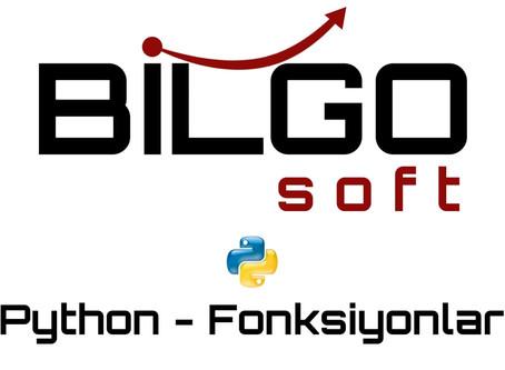 Python - Fonksiyonlar
