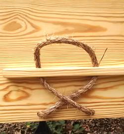 Cross rope handle