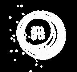 AM Arts logo chakrah white