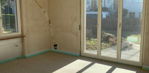 Schlafzimmer Umbaustand Februar 2020