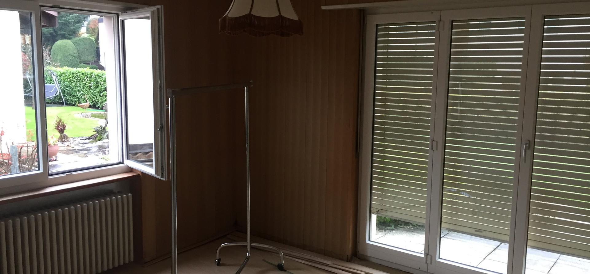 Wohnzimmer vor Umbau, August 2019