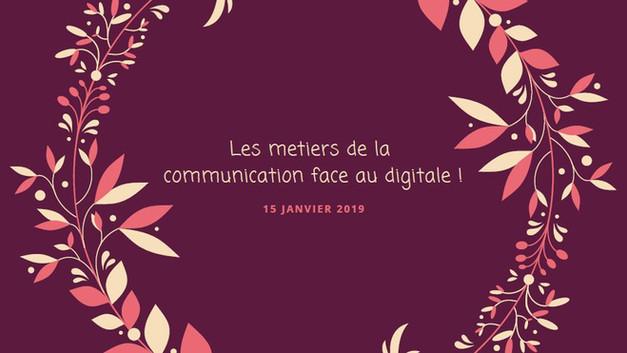 Conférence Métiers du Digital Lycée Jeanne La Lorraine Le raincy