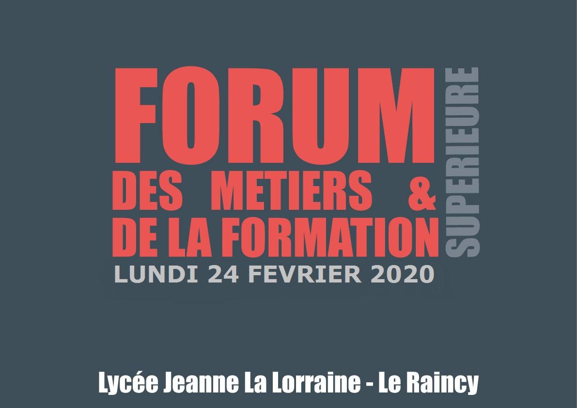 Forum des Métiers & de la Formation Supérieure 2020 JLL