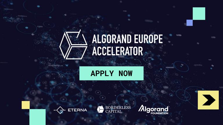 Apply Now - Algorand Europe Accelerator