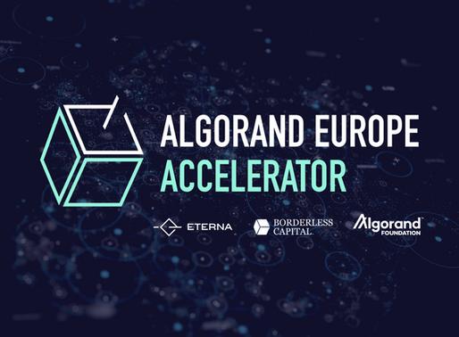 Algorand Foundation, Borderless Capital and Eterna Capital Launch Algorand Europe Accelerator
