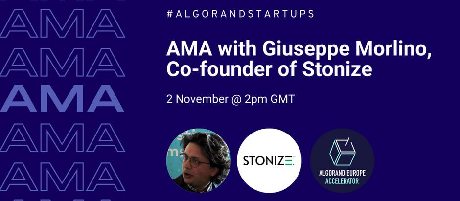 AMA with Giuseppe Morlino, Co-founder of Stonize - 2nd November
