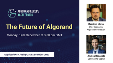 The Future of Algorand with Massimo Morini, Chief Economist, Algorand Foundation