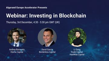 Webinar: Investing in Blockchain (VC Panel) - 3rd December