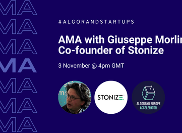 AMA with Giuseppe Morlino, Co-founder of Stonize - 3rd November