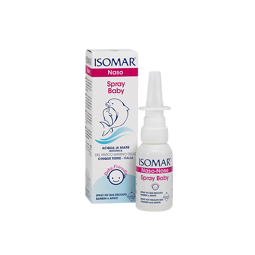 ISOMAR Nose - Baby No Gas Spray - Daily Hygiene - Isotonic Sea Water (30ml)