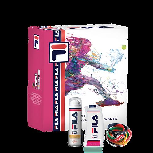 FILA - Set for Women - Dep Spray Natural + Shower Gel (300ml) + Bangle