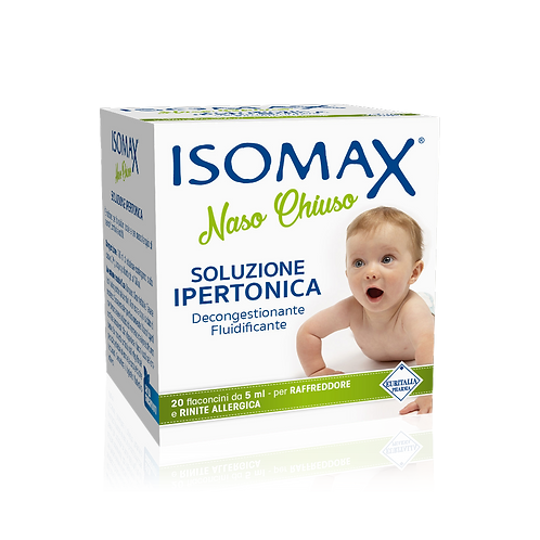 ISOMAX - Nose - Vials for Blocked Nose - Hypertonic Solution (20 vials x 5ml)