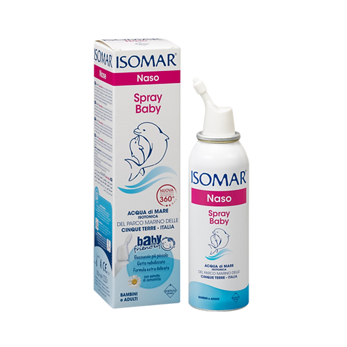 ISOMAR Nose - Baby 360º Spray - Daily Hygiene - Isotonic Sea Water (100ml)