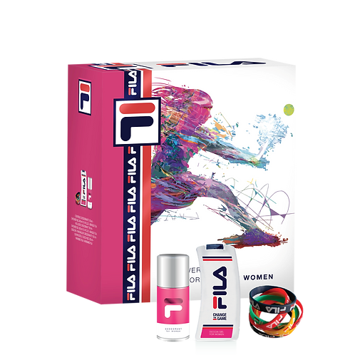 FILA - Set for Women - Dep Spray + Shower Gel (300ml) + Bangle