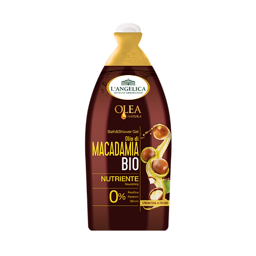 L'ANGELICA Olea Naturae - Bath&Shower Gel - Organic Macadamia Oil (500ml)
