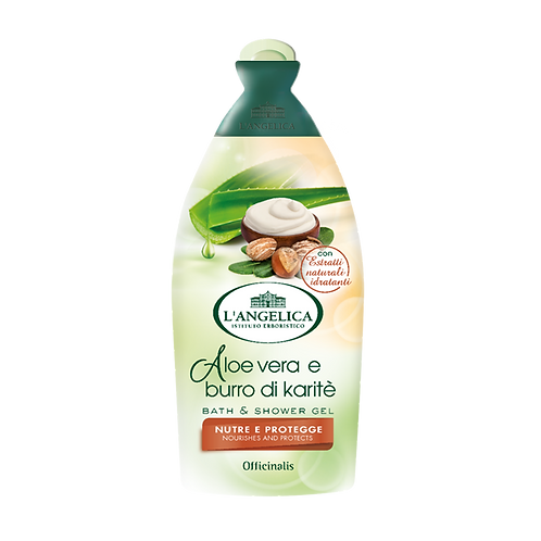L'ANGELICA Officinalis - Bath&Shower Gel - Aloe vera & Karite Butter (500ml)