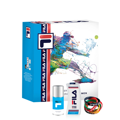 FILA - Set for Men - Dep Spray + Shower Gel (300ml) + Bangle
