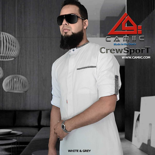 CrewSport White & Grey