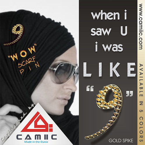 """WoW"" Scarf Pin - GOLD SPIKE"