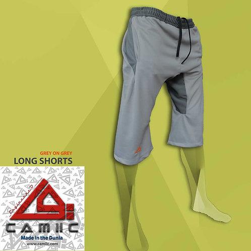 3/4 Long Shorts Grey