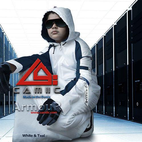 ARMOUR 2 - WHITE+TEAL