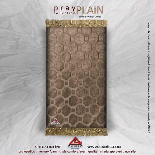 Luxury Plain - Coffee Honeycomb