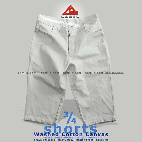 3/4 Shorts BASiC WHiTE
