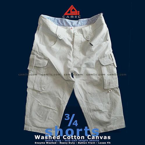 3/4 Shorts CaRGO WHiTE
